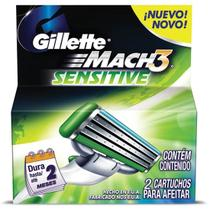Carga barbear gillette mach3 c/2 mach3 sensitive unit - Gillette mach 3