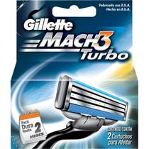 Carga barbear gillette mach3 c/2 mach3 turbo unit - Gillette mach 3