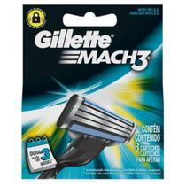 Carga barbear gillette mach3 c/3 regular - Sem marca