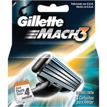 Carga barbear gillette mach3 c/4 mach3 regular unit - Gillette mach 3