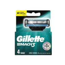 Carga barbear gillette mach3 c/4 mach3 regular unit - Gillette mach 3