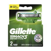 Carga Barbear Gillette Mach3 Com 2 Mach3 Sensitive -