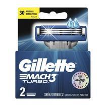 Carga Barbear Gillette Mach3 Com 2 Mach3 Turbo -