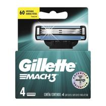 Carga Barbear Gillette Mach3 Com 4 Mach3 Regular -