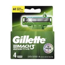 Carga Barbear Gillette Mach3 Com 4 Mach3 Sensitive -