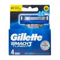 Carga Barbear Gillette Mach3 Com 4 Mach3 Turbo -