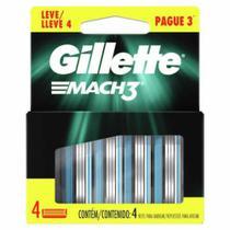 Carga de aparelho para barbear gillette mach3 leve 4 pague 3 unidades -