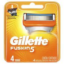 Carga Gillette Fusion 5 c/ 4 Unidades -
