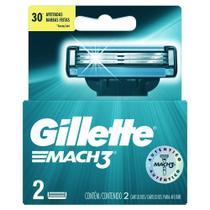 Carga Gillette Mach 3 C/ 02 Normal - Gilette