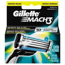 Carga Gillette Mach 3 Regular - Contém 4 -