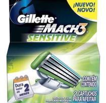 Carga Gillette Mach 3 Sensitive - 2 Unidades - Procter  gamble do brasil