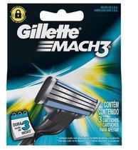 Carga Gillette Mach3 Regular Com 3 Cartuchos - Procter Gillette