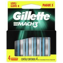 Carga Gillette Mach3 Regular com 4un - Pague 3 Leve 4 -