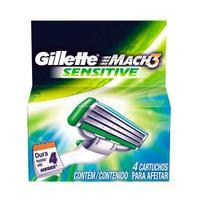 Carga Gillette Mach3 Sensitive - 4 Cartuchos -