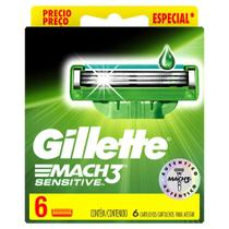 Carga Gillette Mach3 Sensitive 6 Unidades - Mach 3