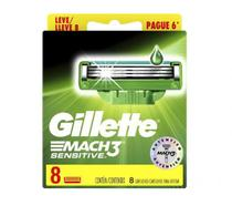 Carga Gillette Mach3 Sensitive - 8 Cartuchos -