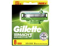 Carga Gillette Mach3 Sensitive - 8 Cartuchos