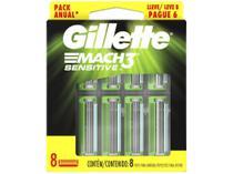 Carga Gillette Mach3 Sensitive - 8 Unidades -
