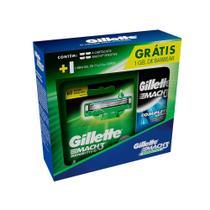 Carga Gillette Mach3 Sensitive c/4 + Mini Gel de Barbear 71g -