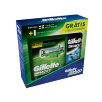 Carga Gillette Mach3 Sensitive c/4 + Mini Gel de Barbear 71g