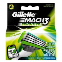 Carga Gillette Mach3 Sensitive C/4 unidades - Procter  gamble do brasil s.