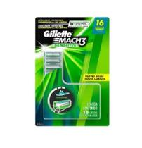 650f5ebabefae Carga Gillette Mach3 Sensitive Com 16 Cartuchos Oferta - Gillete mach 3  sensitive