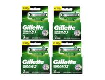 Carga Gillette Mach3 Sensitive Com 3x4= 12 Cartuchos -