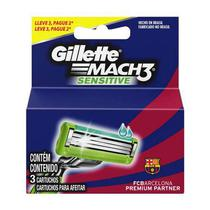 Carga Gillette Mach3 Sensitive Leve 3 Pague 2