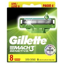 Carga Gillette Mach3 Sensitive Leve 8 Pague 6