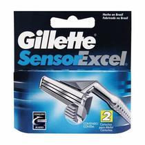 Carga Gillette Sensor Excel Com 2 Unidades -