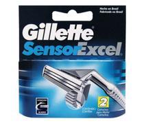 Carga Gillette sensor excel com 2x2= 4 cartuchos -