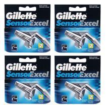 Carga Gillette sensor excel com 8 cartuchos -