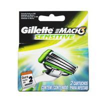 Carga Mach 3 Sensitive  Com 2 Cartuchos - Gillette -