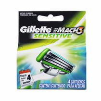 Carga Mach 3 Sensitive com 4 Cartuchos - Gillette -