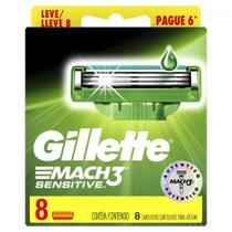 Carga para Aparelho de Barbear Gillette Mach 3 Sensitive Leve 8 Pague 6 -
