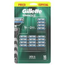 Carga para Aparelho de Barbear Gillette Mach3 16 Unidades - Mach 3