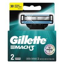Carga para aparelho de barbear gillette mach3 2 unidades - P&G