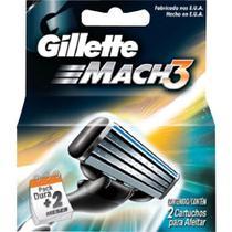 Carga para aparelho de barbear gillette mach3 2 unidades - Procter & Gamble