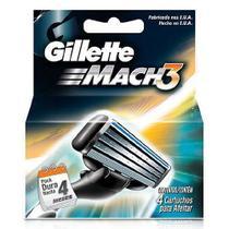 Carga para aparelho de barbear gillette mach3 4 unidades - Procter & Gamble