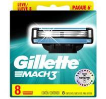 Carga para Aparelho de Barbear Gillette Mach3 - 8 Cartuchos -