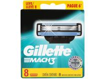Carga para Aparelho de Barbear Gillette Mach3 - 8 Unidades -