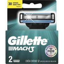 Carga para Aparelho de Barbear Gillette Mach3 Com 2 Refis -