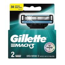 Carga Para Aparelho de Barbear Gillette Mach3 Com 2 unidades -