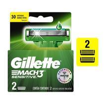 Carga para Aparelho de Barbear Gillette Mach3 Sensitive 2 unidades - Gilette