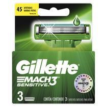 Carga Para Aparelho De Barbear Gillette Mach3 Sensitive - 3 Unidades -