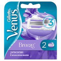 Carga para Aparelho de Depilar Gillette Venus Breeze com 2 unidades -