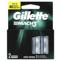 Carga Para Lâmina De Barbear Gillette Mach3 - 2 unidades -
