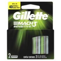 Carga Para Lâmina De Barbear Gillette Mach3 Sensitive - 2 unidades -