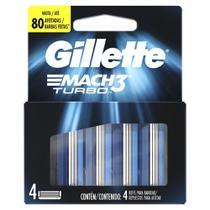 Carga Para Lâmina De Barbear Gillette Mach3 Turbo 4 - unidades -