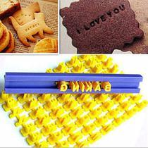 Carimbo Alfabeto Letras E Números Para Confeitaria E Biscuit - Leb Decorações
